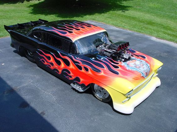 pro modified 57 | Yellow with Flames or Black with Flames? - The 1947 - Present ...