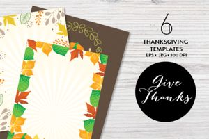 6 Thanksgiving Templates EPS & JPG