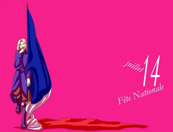 Hetalia birthdays: Francis, July 14 - Art by ふづき on Pixiv, found via timooxenstierna.tumblr.com