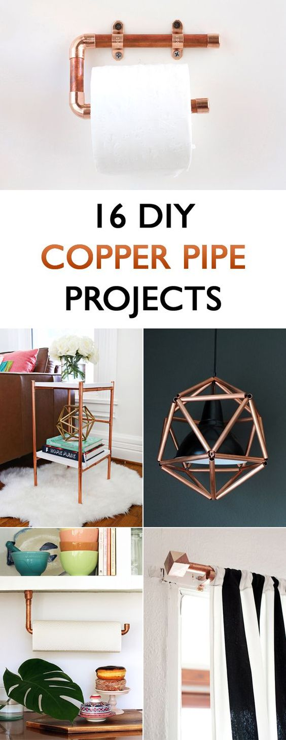 16 diy copper pipe projects for home d cor a well for Copper pipe projects
