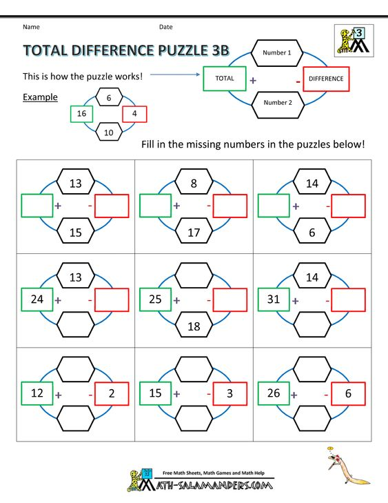 math worksheet : 3rd grade math puzzle worksheets total difference puzzle 3b   : Subtraction Puzzle Worksheets