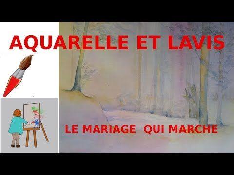 Peindre Une Aquarelle Sur Un Fond De Lavis Youtube Aquarelle