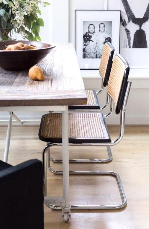 Ides Dcoration Instagram Chaise B32 En Cannage Design Marcel Breuer Insta Home Decor Ideas Cane Cesca Chair B32 In 2020 Dining Chairs Dining Chair Upholstery Chair