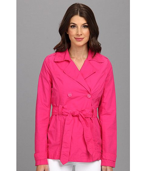 dollhouse Cotton Trenches Jacket - Belted Hot Pink - 6pm.com