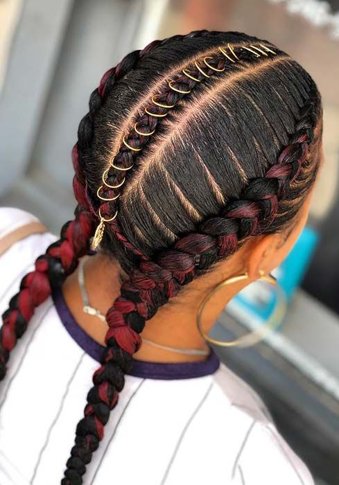 43 Two Braids Hairstyles Perfect For Hot Summer Days Stayglam Braided Hairstyles Braids With Weave Two Braids Style