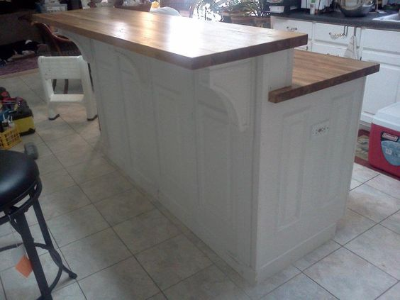 2 tier island | Two Tier white kitchen Island | project X ...