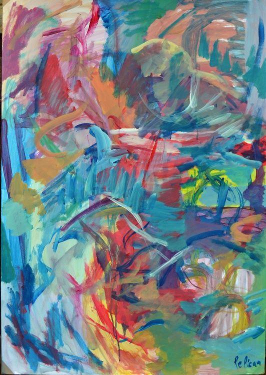 guillaume pelican (©2014 artmajeur.com/neofauve) peinture acrylique sur papier