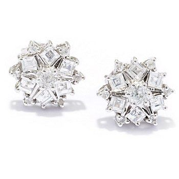 NYC II 1.00ctw White Zircon Stud Earrings