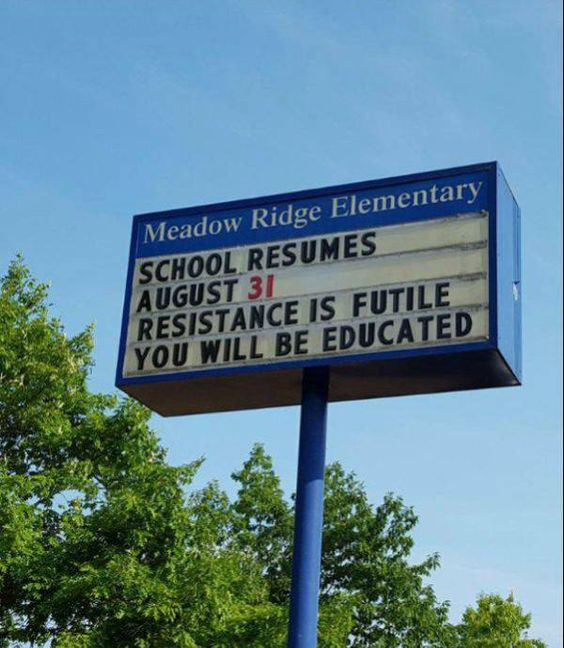 You will be educated! #teachers #backtoschool