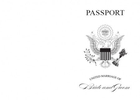 passport wedding program template - invitations word doc and lesson plans on pinterest