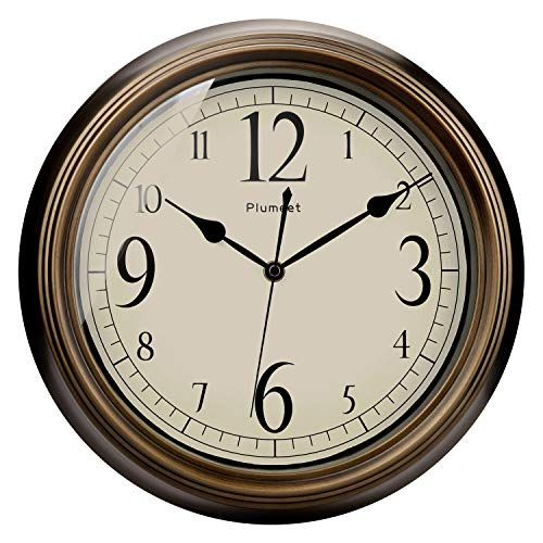 Plumeet Large Retro Wall Clock 13 Non Ticking Classic Silent Clocks Decorative Living Room Battery Operated Big Numbers In 2020