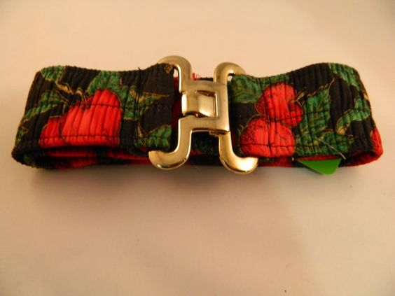 Vintage Handmade Black and Red Apple Belt by VintageBaublesnBits, $10.00