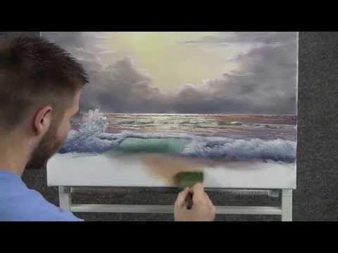 comment faire l 39 eau de la mer peinture acrylique pinterest acryliques pastel et comment. Black Bedroom Furniture Sets. Home Design Ideas