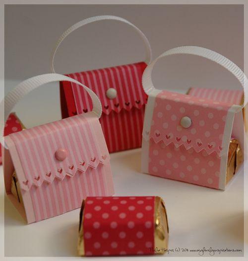 Chocolate nugget purses.