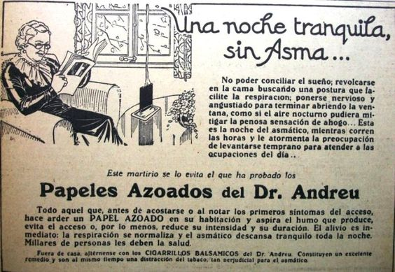 Papeles Azoados Doctor Andreu 1935