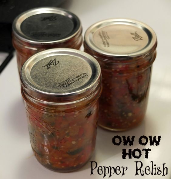 Hot pepper relish, Pepper relish and Relish recipes on Pinterest