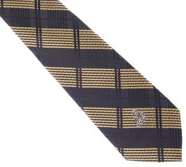 UCF Tie Woven Plaid Tie