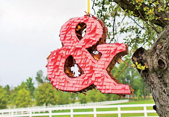 12 Wedding Pinatas - love this ampersand :-) this pin also #sofreakin'hipster: