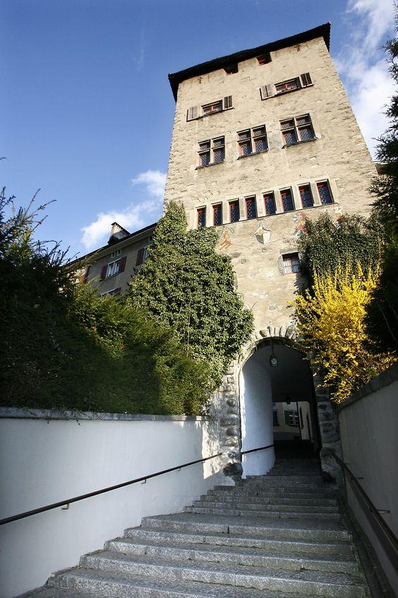 Hofsteig mit Hofturm (CHUR, Graubünden / Grisons, Schweiz / Switzerland)