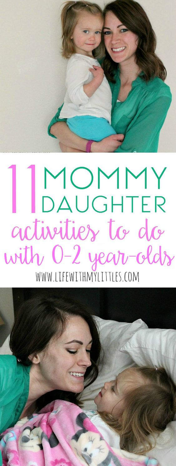 Love these mommy daughter activities to do with 0-2 year-olds! If you're looking for fun activities to do with baby or toddler girls, this is a great list!