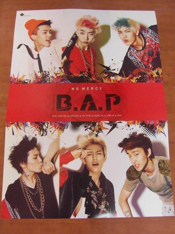B.A.P - No Mercy [OFFICIAL] POSTER *NEW* K-POP BAP
