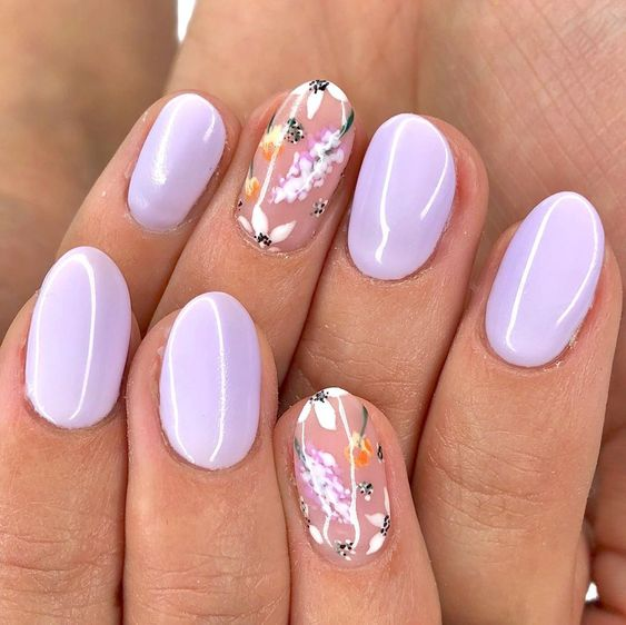 floreadas las uñas