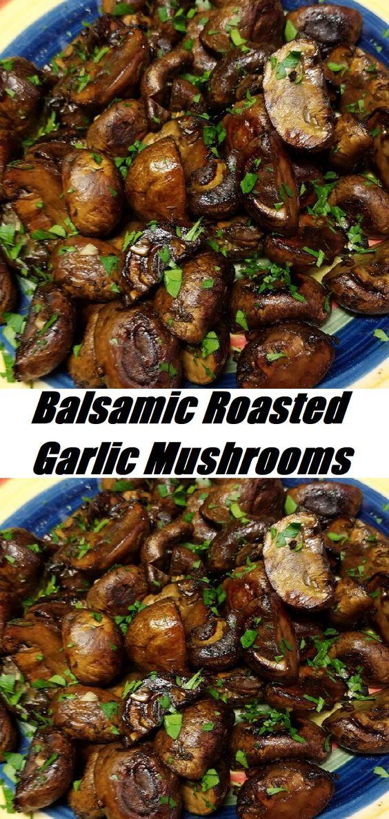 #Balsamic #Roasted #Garlic #Mushrooms Balsamic Roasted Garlic Mushrooms