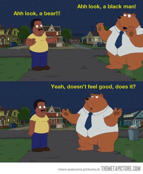 Look, a bear…