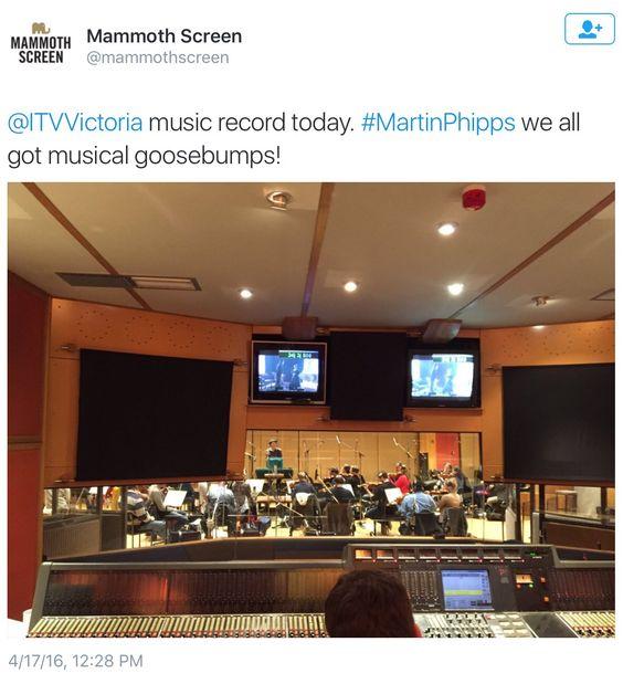 Recording the music for Victoria. April 17, 2016.