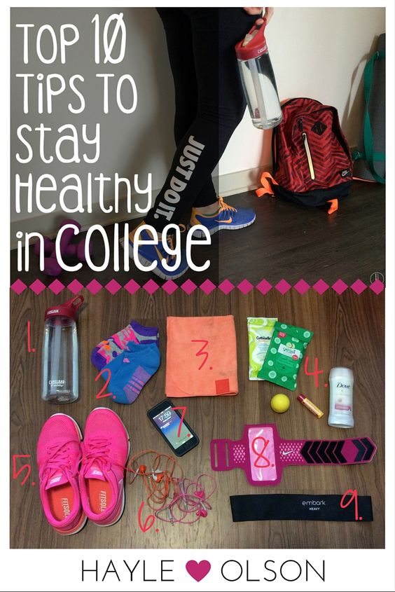 It's so so SO important to stay healthy while in college. Your schedule might be crazy busy, but these tips make staying healthy easy! Here are 10 Tips to stay healthy in College. Click to read more, or pin to read later :) Find my blog at www.hayleolson.com