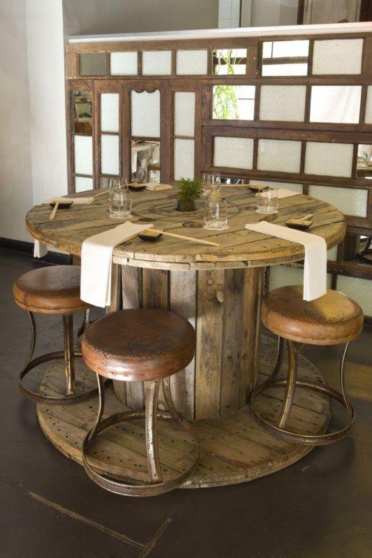 Mesas redondas hechas con palets paso a paso buscar con - Mesas hechas con palets ...