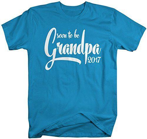 Shirts By Sarah Men's Soon To Be Grandpa 2017 Shirt Baby Reveal T-Shirt