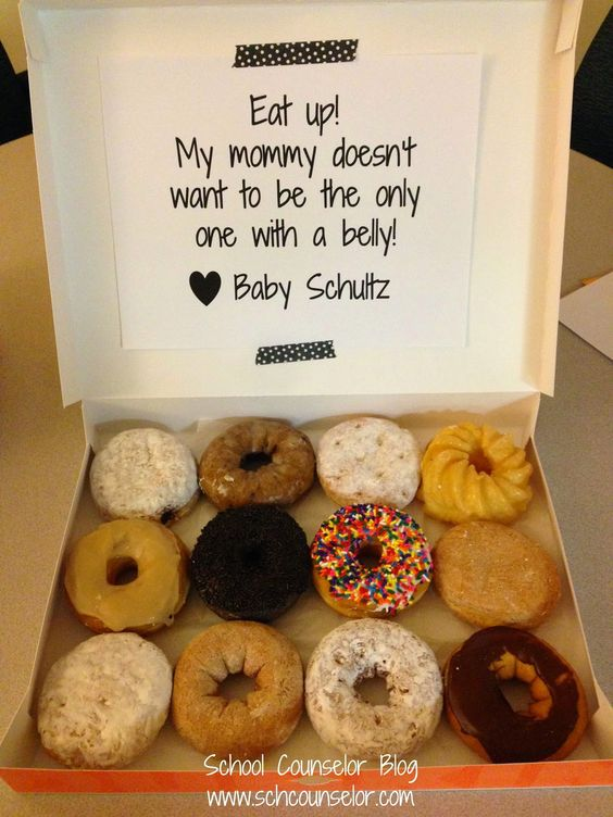 School Counselor Blog: A Fun, Food-Filled Way of Announcing Your Pregnancy at Work