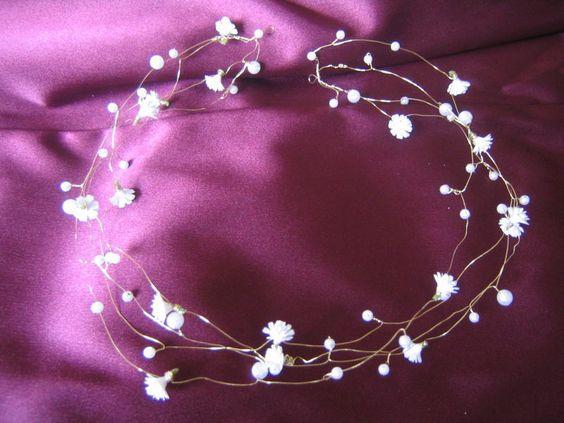 Haarschmuck Haarband Kommunion Hochzeit von clarigoglitzerwelt auf DaWanda.com