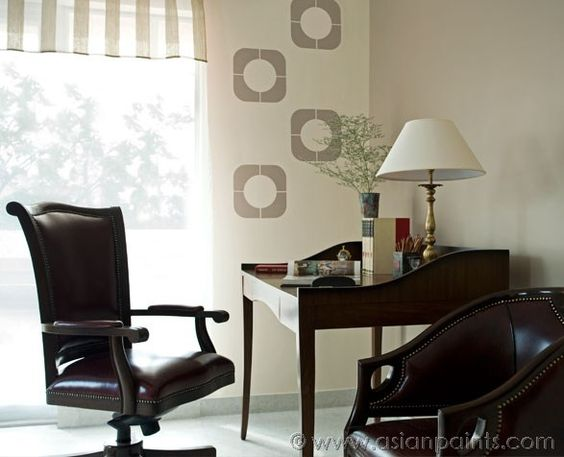 Royale Luxury Emulsion Paints For Study Room Sesame Seed L127 Stencil Color Butter Rum 8456