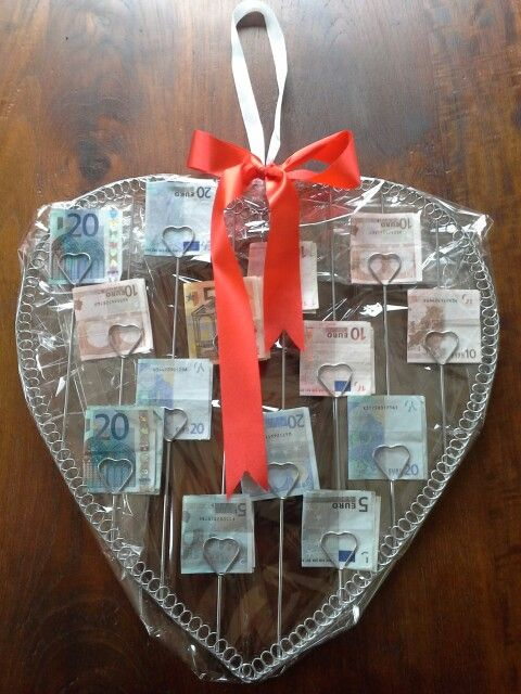 Bruiloft collega geld cadeau geven pinterest