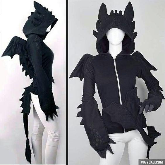 Toothless hoodie, soon to be cosplay