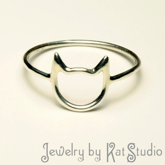 Handmade Jewelry - Ring - Cat - Sterling Silver 925
