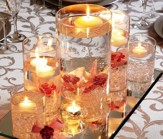 Floating Candle Centerpieces For Tables Ideas: Centerpieces, Floating Candles And Floating Candle