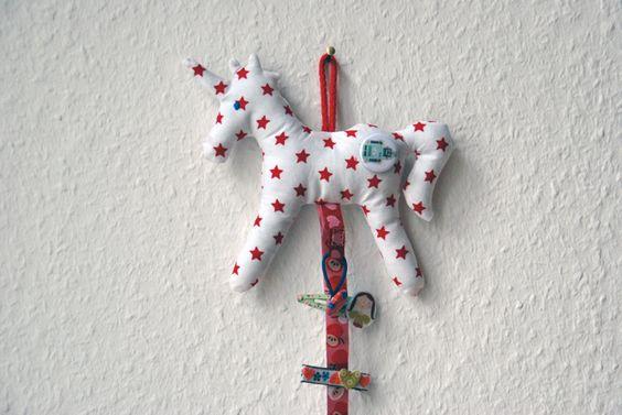 Haarspangenhalter Einhorn Stern