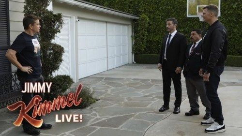 Tom Brady Helps Jimmy Kimmel Vandalize Matt Damons House Being Published On Http Mybecause Com Tom Brady Helps Jimmy Kimmel Vandalize Matt Damons House Com