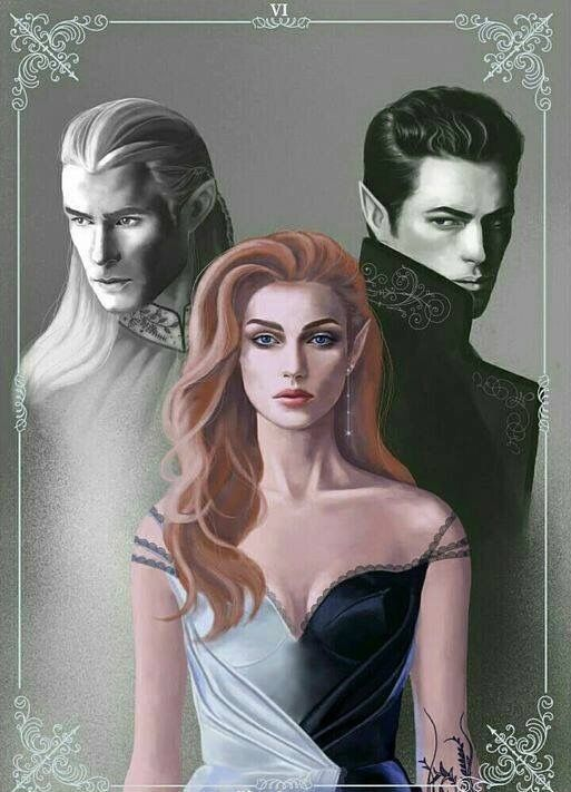 Tamlin Feyre And Rhysand Throne Of Glass Feyre And Rhysand