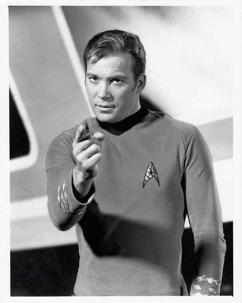 William Shatner as Captain Kirk in 'Star Trek'