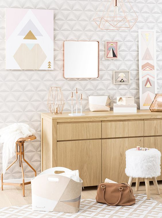 Tendance d co graphik pastel maisons du monde blush - Maison du monde decoration ...