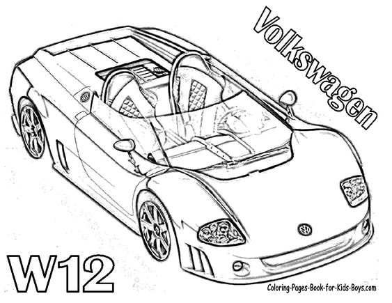 super fast cars coloring
