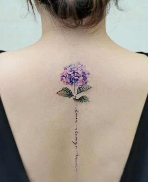 50 Extraordinary Back Flower Spine Tattoo For You To Choose