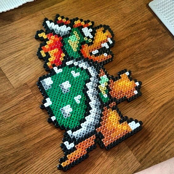 bowser hama perler beads by refused strijkkralen patronen pinterest b gelperlen perlen und ps. Black Bedroom Furniture Sets. Home Design Ideas