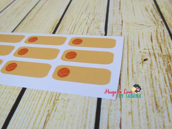 Basketball Practice/Game Planner Sticker  Size by HugsLove on Etsy