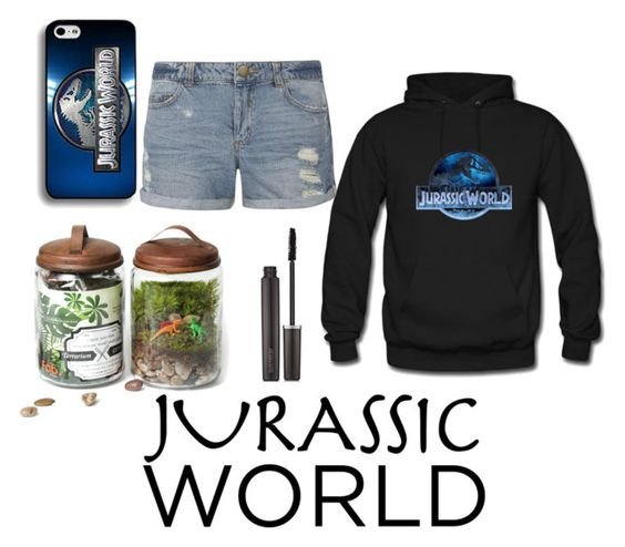 """Jurassic world fan girl"" by lam616 ❤ liked on Polyvore featuring Twig Terrariums, Dorothy Perkins and Laura Mercier"