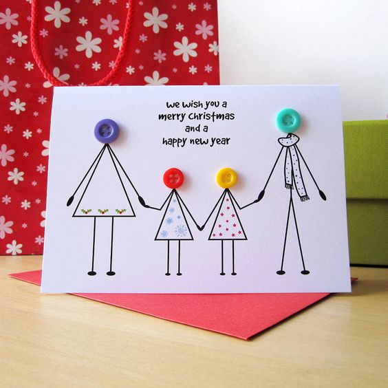 personalised family christmas card by mrs l cards | notonthehighstreet.com